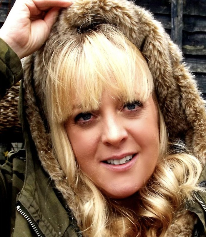 Carrie Eddins (with parka)